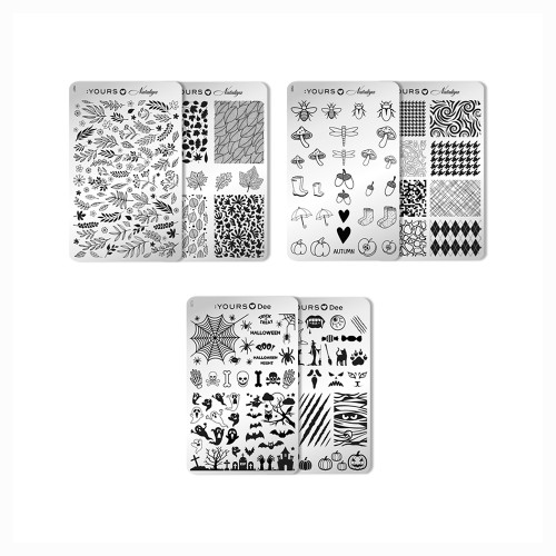 :YOURS Fantastic Fall Stamping Plate Collection