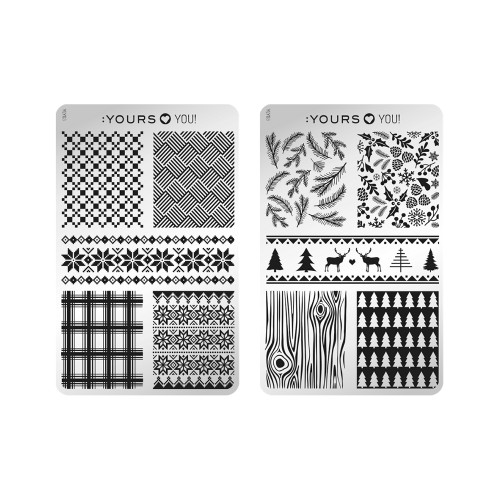 :YOURS Winter Wolly Double Sided Stamping Plate