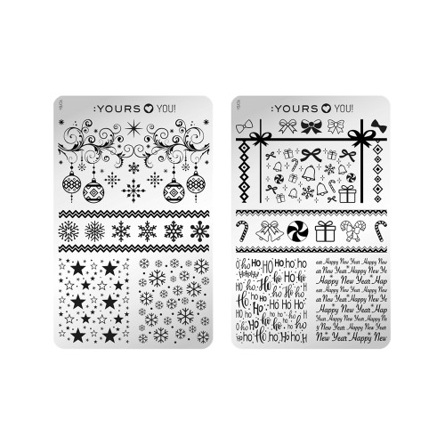 :YOURS Take A Bow Double Sided Stamping Plate