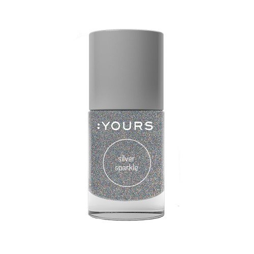 :YOURS Holographic Effect Stamping Polish Silver Sparkle