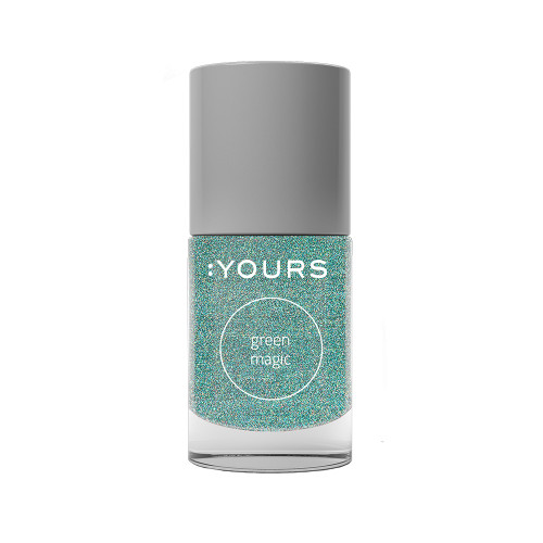 :YOURS Holographic Effect Stamping Polish Green Magic