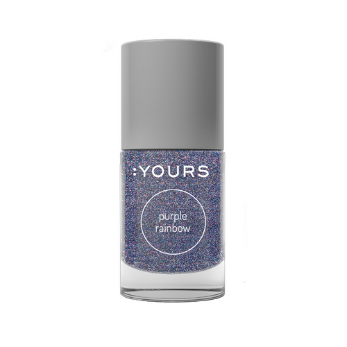 :YOURS Holographic Effect Stamping Polish Purple Rainbow