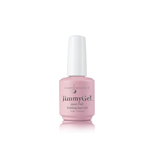 LE JimmyGel Soak-off Building Base, Ideal Pink 13.5ml
