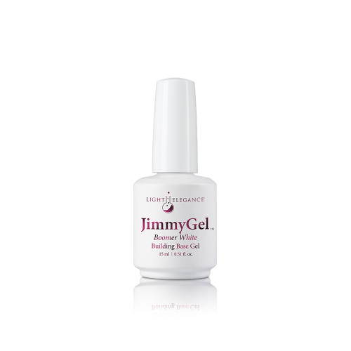 LE JimmyGel Soak-off Building Base, Boomer White 13.5ml