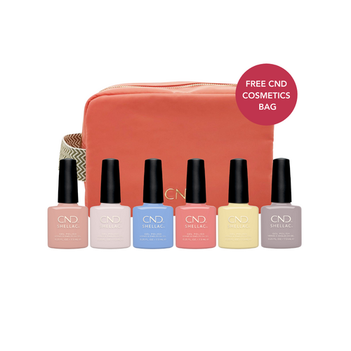 Shellac The Colors Of You Collection with CND Cosmetics Bag