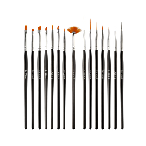 Lecente Ultimate nail Art Brush Set x15