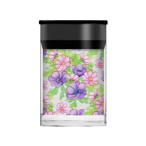 Lecente Lilac Flowers Foil