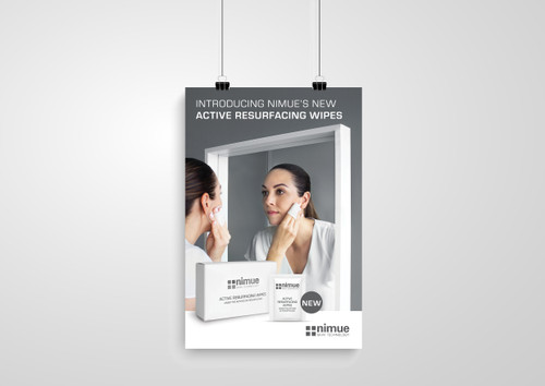 Active Resurfacing Wipes A4 Poster
