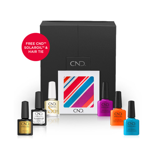 CND Summer City Chic Kit - Urban Pop (Free SolarOil)