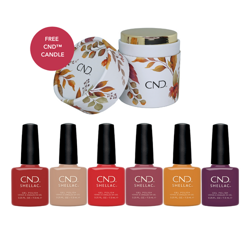 CND Shellac Wild Romantics Collection with CND Candle