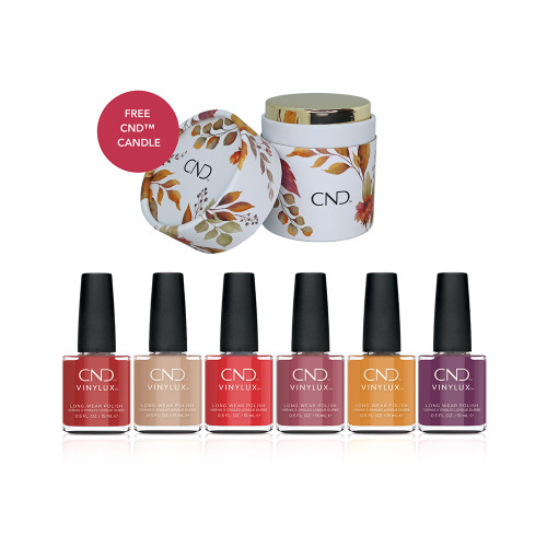 CND Vinylux Wild Romantics Collection with CND Candle