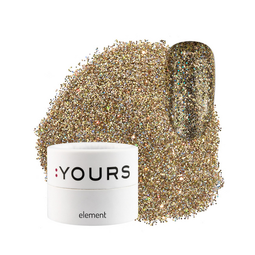 :YOURS Yolographic Effect Glitter Element Gold Digger