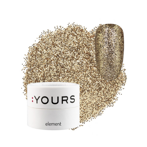 :YOURS Finest Effect Glitter Element Gold Drums