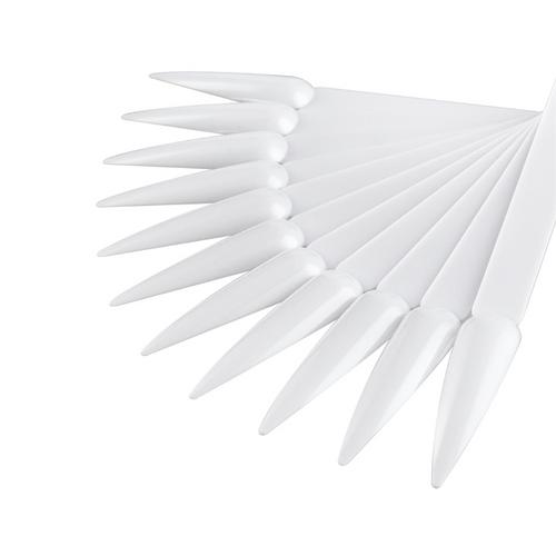 Lecenté 50 White Stiletto Nail Tips Display