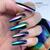 Lecente Purple Kaleidoscope Foil Nail Art