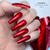 Lecente Red Holographic Lines Foil Nail Art
