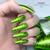 Lecente Summer 2021 Foil Collection Lime Green Holographic Lines Foil