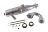 FP2506   FP02 .21 Nitro Off Road Engine w/Ceramic Rear Bearing/DCL Crankshaft/FP2500 Pipe-Manifold Combo