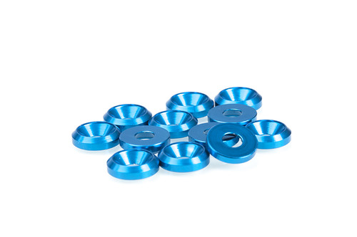 FP 3MM BLUE COUNTERSUNK WASHERS (12 pcs)