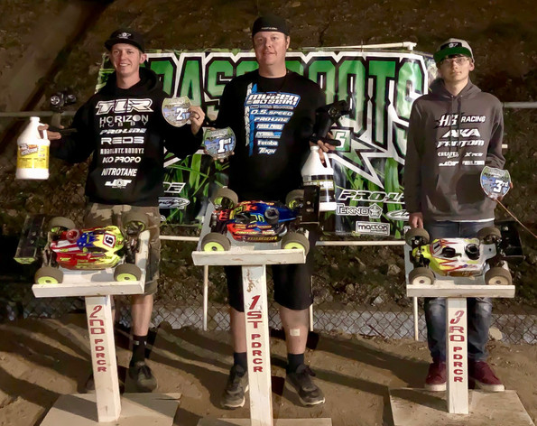 ​Flash Point R/C would like to congratulate Adam Drake for winning nitro buggy, electric buggy and nitro truck at round 3 of the GRRS