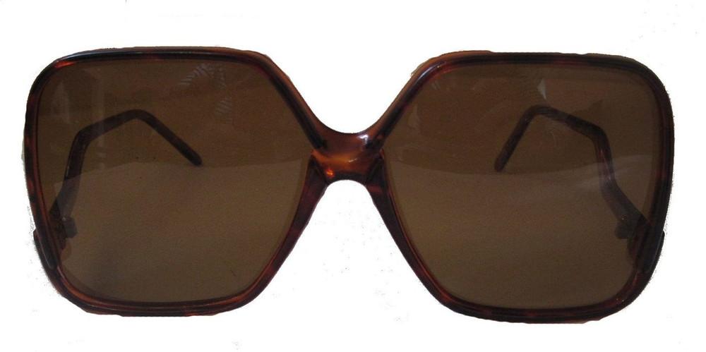 Vintage Oversized Brown Square Sunglasses