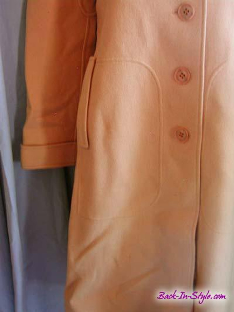 Courreges Tan Wool Mod Coat
