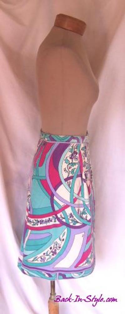 Emilio Pucci Vintage Velvet A-Line Skirt