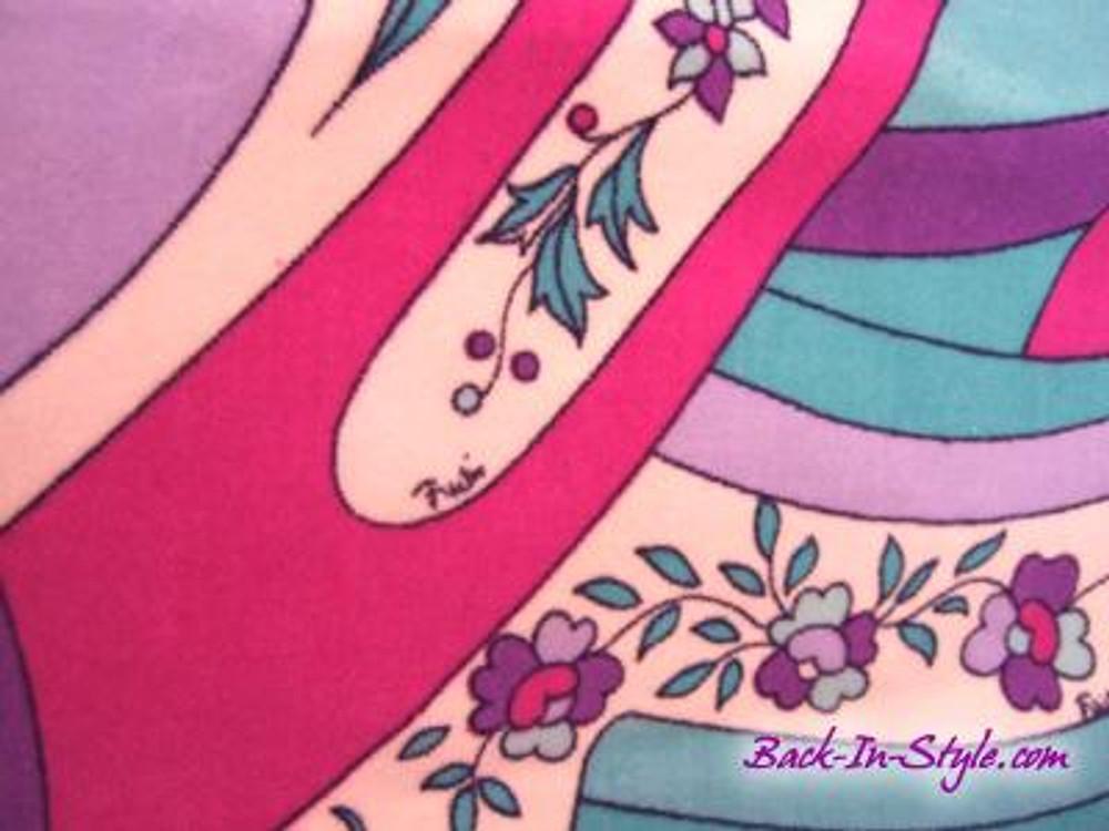 watch b41ed e8080 Emilio Pucci Vintage Velvet A-Line Skirt