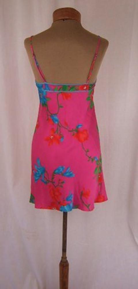 Leonard Bright Pink Floral Slip Dress