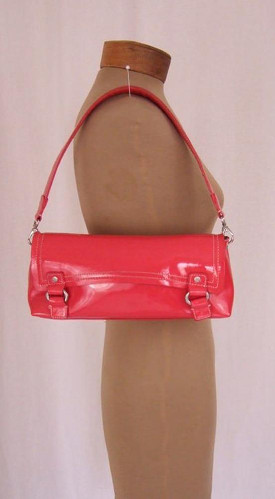 Sigerson Olsen pink patent leather convertible clutch & shoulder bag