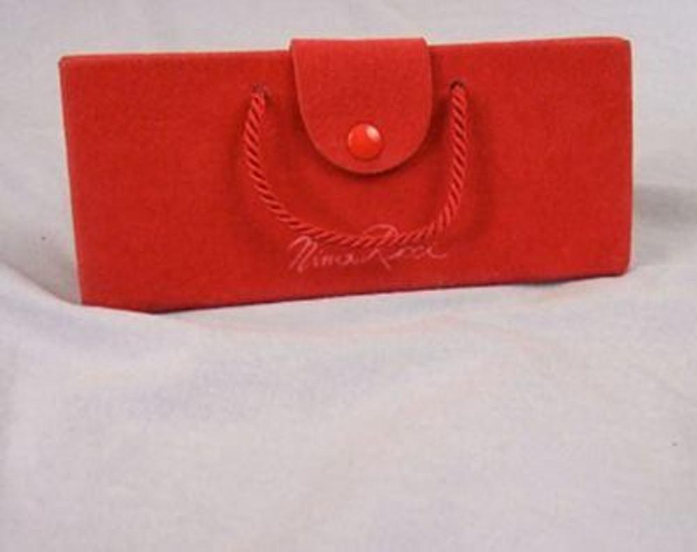 Nina Ricci Red Velvet Eye Glass Case