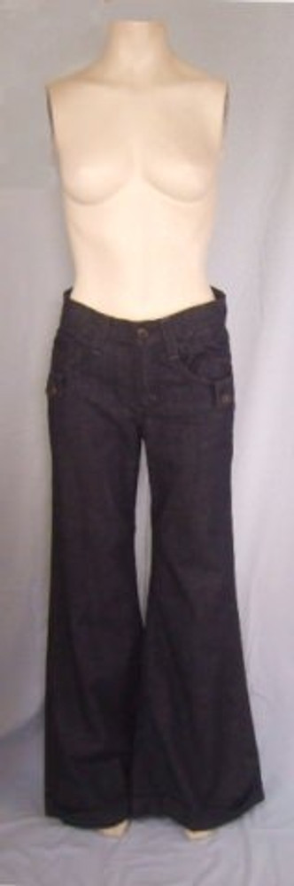 James Jeans Dry Aged Denim Wide Leg Dark Wash Jeans New!
