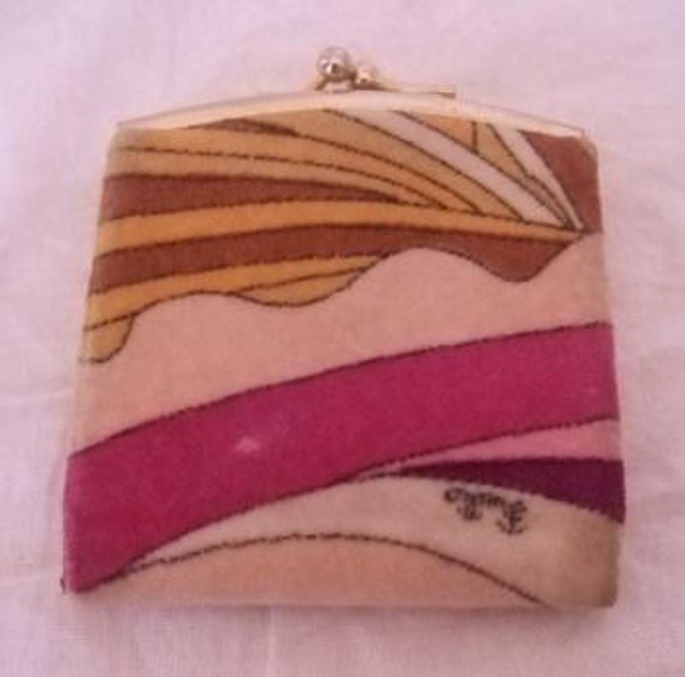 Vintage 1960s Emilio Pucci Pink Velvet Coin Purse