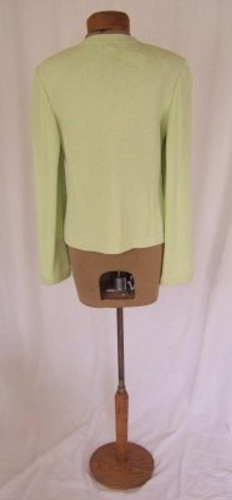 St. John Mint Green Knit Cardigan Jacket New!