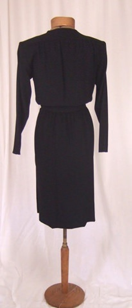 Yves Saint Laurent Black Crepe Wrap Dress