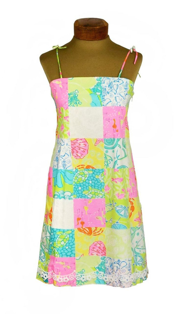 Lilly Pulitzer Tropical Patchwork Sundress