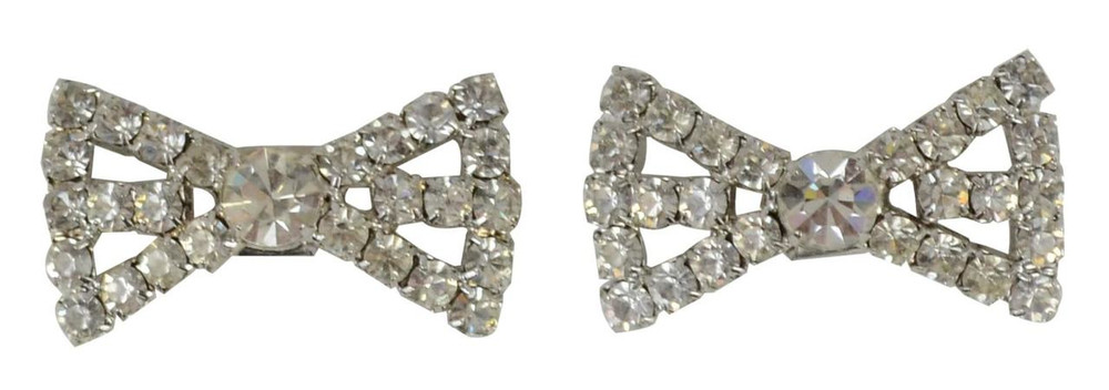 Rhinestone Fashion Bow Shoe Clips