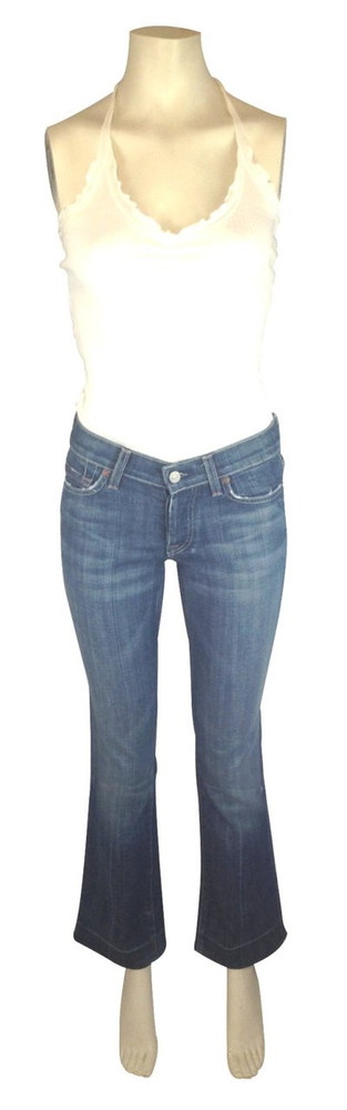 7 for all Mankind Medium Wash Boy Cut Jeans