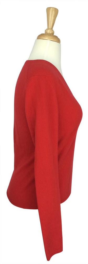 TSE Coral Cashmere V Neck Sweater