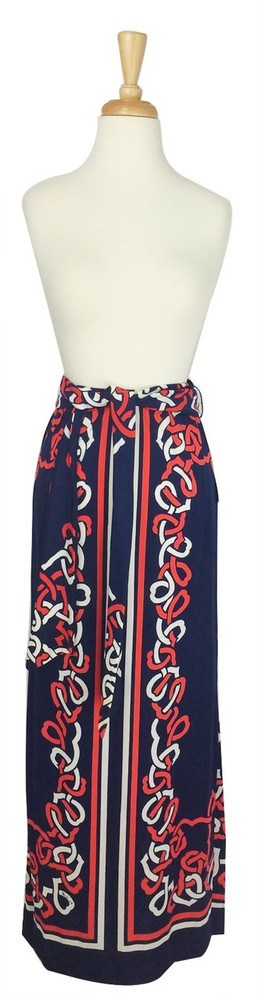 Vintage Mr. Dino Nautical Strapless Dress or Maxi Skirt