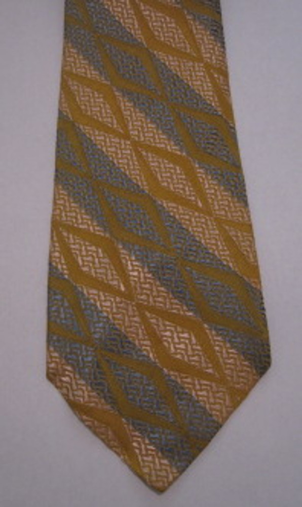 Blue & Gold Brocade Tie