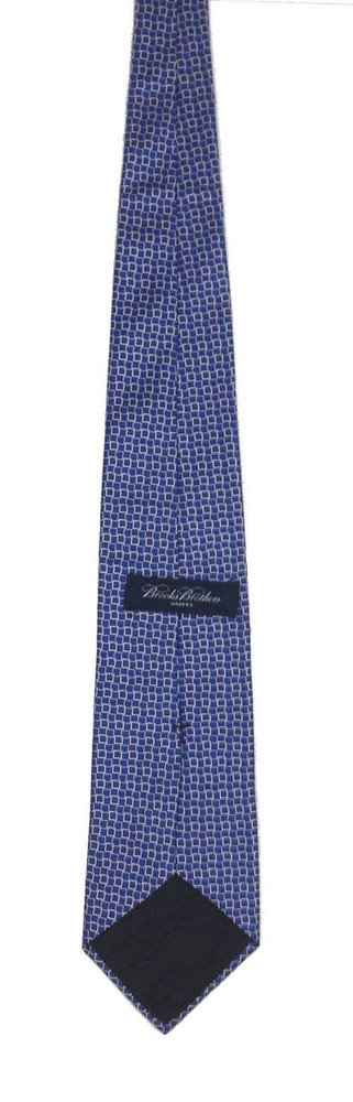 Brooks Brothers Blue & White Square Tie