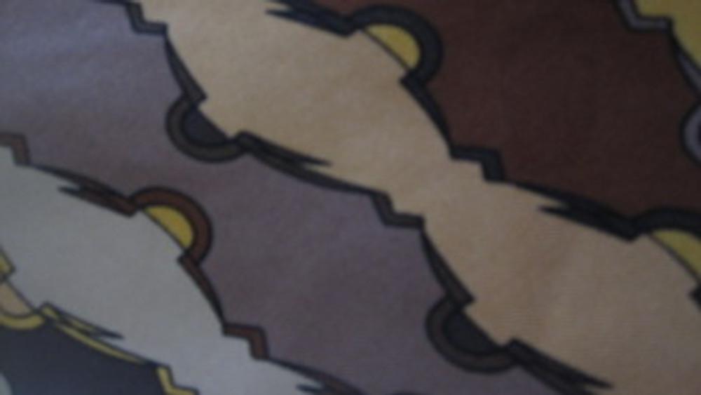 Emilio Pucci brown retro skinny tie