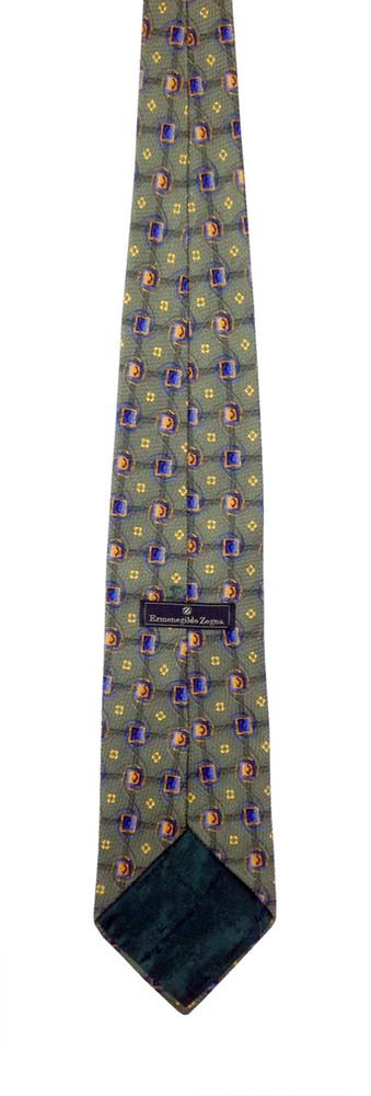 Ermenegildo Zegna olive textured tie