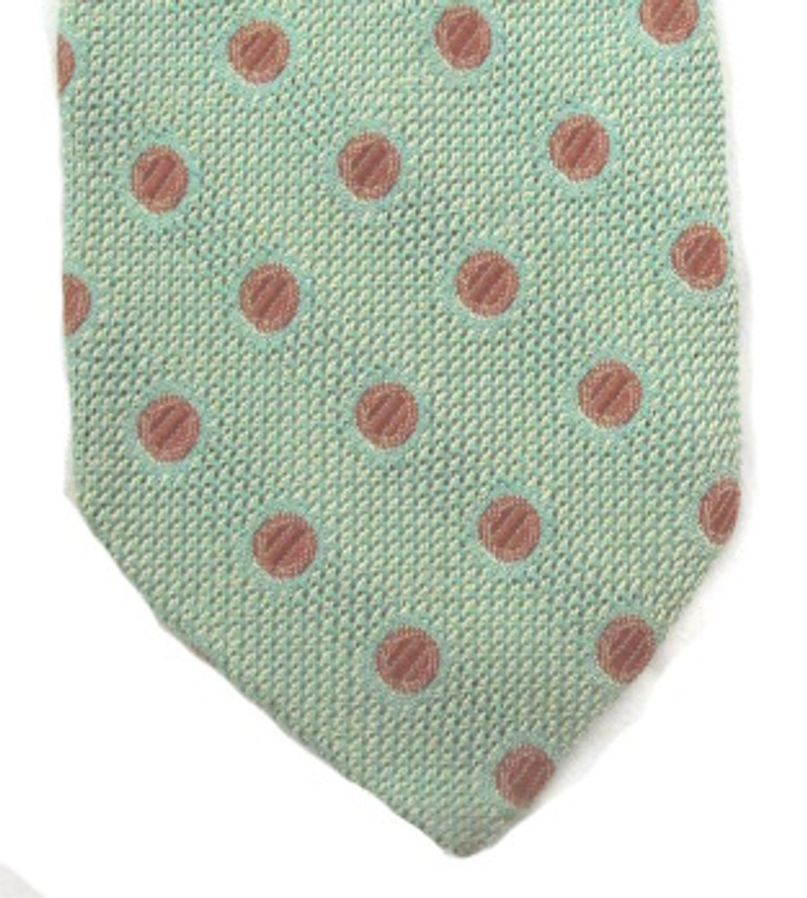 Ermenegildo Zegna Sea Green Dotted Tie