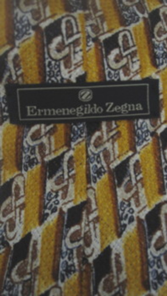 Ermenegildo Zegna Yellow & Brown Diagonal Tie