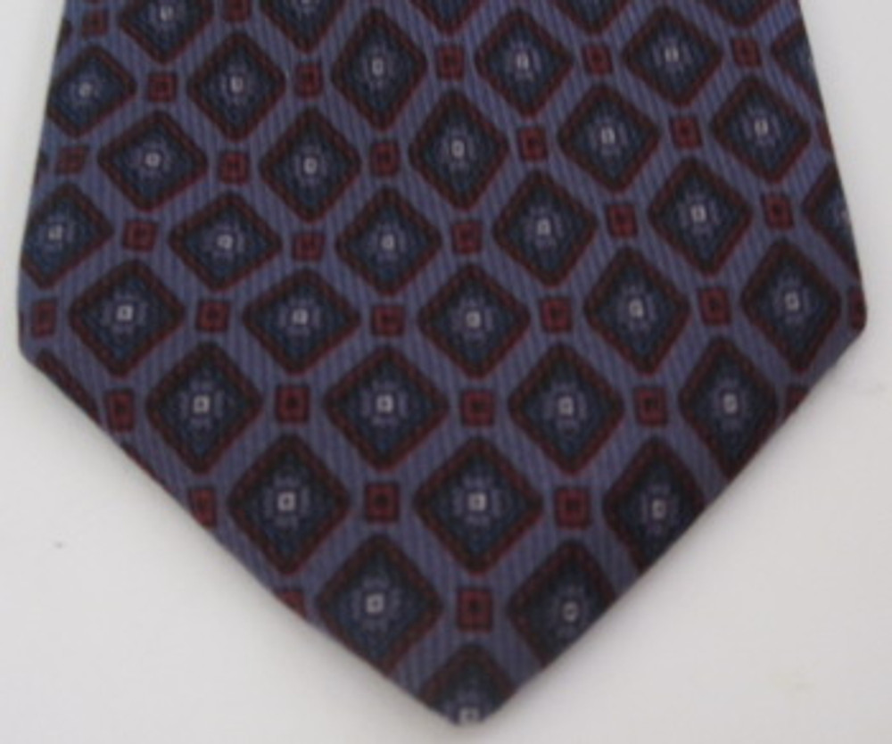 Gianni Versace Purple, Blue & Red Diamond Tie