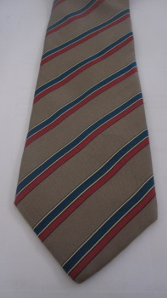 Givenchy Red & Teal Diagonal Stripe Tie