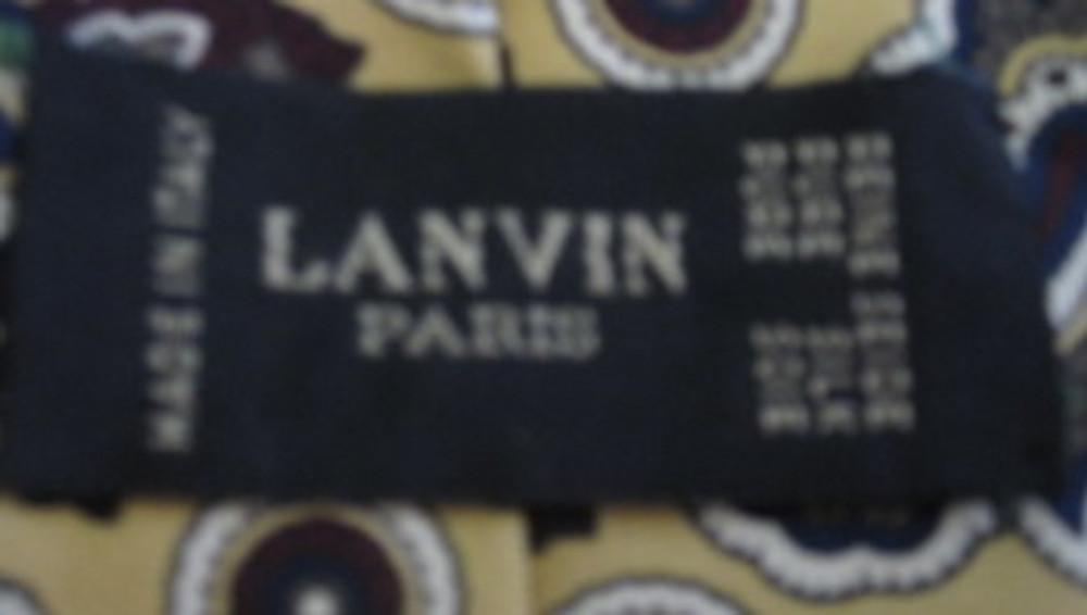 Lanvin Burgundy & Yellow Paisley Tie