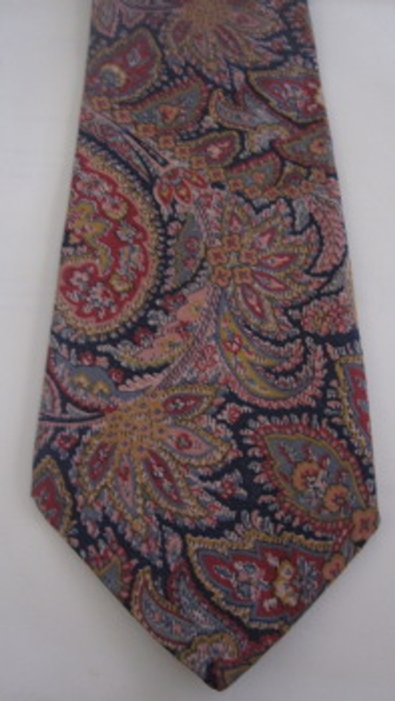 Liberty of London muted cotton paisley tie